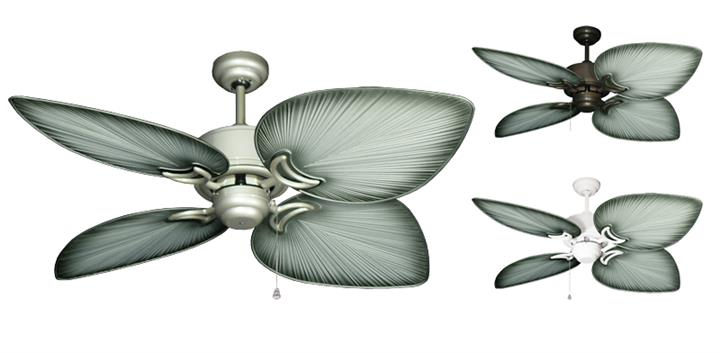 50 inch Bombay Outdoor Tropical Ceiling Fan - Brushed Nickel Blades