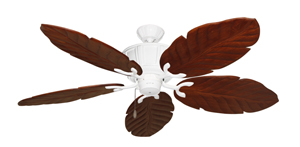 Centurion Pure White Tropical Ceiling Fan with Arbor 100 Cherry Blades