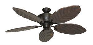 Centurion Weathered Brick Tropical Ceiling Fan with Arbor 100 Dark Walnut Blades