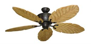 Centurion Weathered Brick Tropical Ceiling Fan with Arbor 100 Maple Blades
