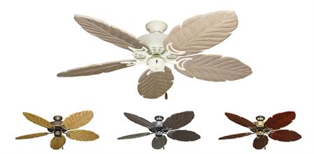 52 inch Dixie Belle Tropical Ceiling Fan - Leaf Arbor 125 Hand Carved Wood Blades