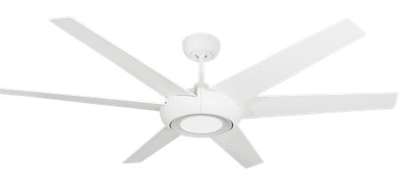60 inch Elegant Ceiling Fan - Pure White by TroposAir