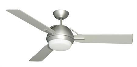 52 inch Enterprise III Satin Steel Ceiling Fan by TroposAir