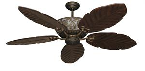Excalibur Tropical Ceiling Fan with Arbor 100 Dark Walnut Blades