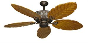 Excalibur Tropical Ceiling Fan with Arbor 100 Oak Blades