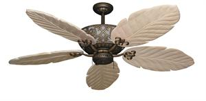 Excalibur Tropical Ceiling Fan with Arbor 100 Whitewash Blades