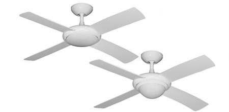 Luna Pure White Modern Fan w/44