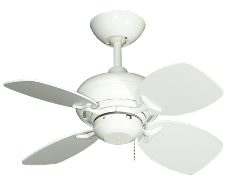 Mini Breeze - 26 inch ceiling fan - pure white finish pure white blades