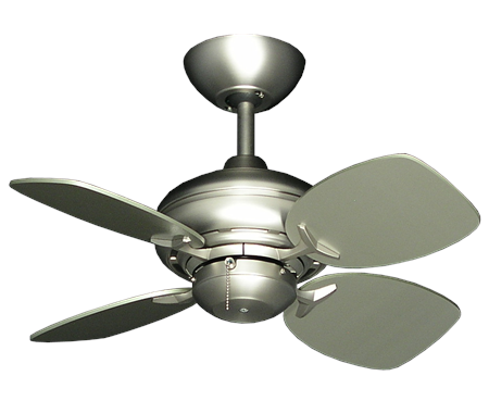 Mini Breeze - 26 inch ceiling fan - satin steel finish satin steel blades