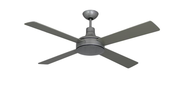 52 inch Quantum II Ceiling Fan in Brushed Nickel by TroposAir