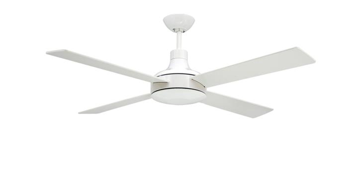 52 inch Quantum Modern Pure White Ceiling Fan by TroposAir