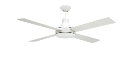 TroposAir Quantum II 52 inch Ceiling Fan Pure with Pure White Blades Finish Shown