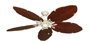 Riviera White Tropical Ceiling Fan with Arbor 100 Cherry Blades