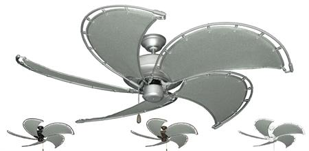 52 inch Raindance Nautical Ceiling Fan - Spring Frames with Classic Gray Canvas Blades