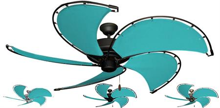 52 inch Raindance Nautical Ceiling Fan - Aruba Custom Canvas Blades
