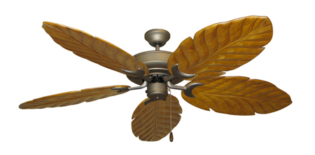 Raindance Antique Bronze Tropical Ceiling Fan with Arbor 100 Oak Blades