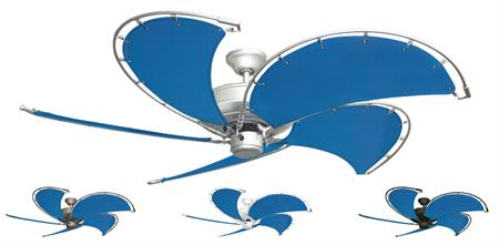 52 inch Raindance Nautical Ceiling Fan - Sunbrella Capri Custom Canvas Blades
