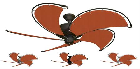 52 inch Raindance Nautical Ceiling Fan - Sunbrella Rust Custom Canvas