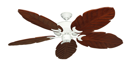 Raindance Pure White Tropical Ceiling Fan with Arbor 100 Cherry Blades