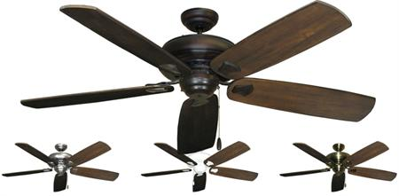 Tiara Contemporary Ceiling Fan w/ 60