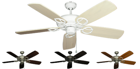 52 inch Trinidad Outdoor Ceiling Fan - Arbor 425 Hand Crafted Blades