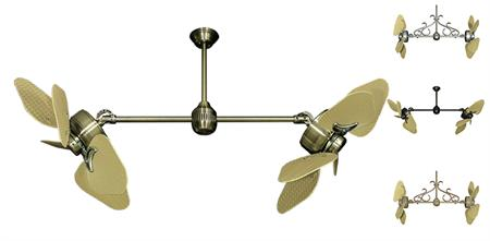35 inch Twin Star III Double Ceiling Fan - ABS Tan Blades