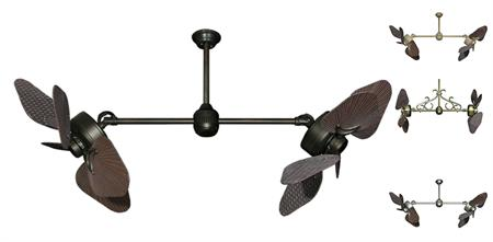 35 inch Twin Star III Double Ceiling Fan - ABS Oil Rubbed Bronze Blades