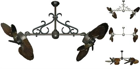 35 inch Twin Star III Double Ceiling Fan - Arbor 600