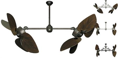 50 inch Twin Star III Double Ceiling Fan - Bombay Oil Rubbed Bronze Blades