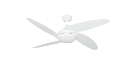 Tuscan 52 inch Ceiling Fan in Pure White
