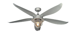 St. Augustine 60 inch Ceiling Fan in Galvanized by TroposAir