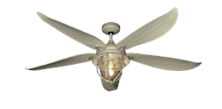 St. Augustine 60 inch Ceiling Fan in Driftwood by TroposAir