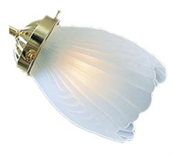 016 Frosted Shell Ceiling Fan Light Side Glass