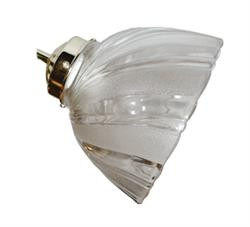 Large Twist Ceiling Fan Light Side Glass