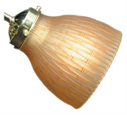 Short Brown Scavo 043 Ceiling Fan Light - The Tropical Fan Company