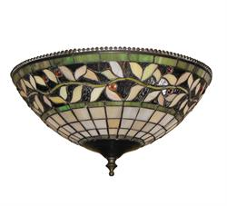 Green Vine Bowl 193 Ceiling Fan Light - Tropical Fan Company
