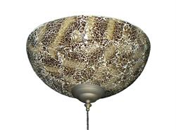 264 Brown Crackle Bowl Light