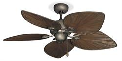"Bombay Antique Bronze Tropical Outdoor Ceiling Fan - 42"" Oil Rubbed Bronze"