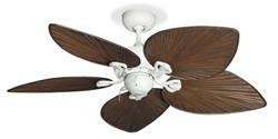 "Bombay Pure White Tropical Ceiling Fan w/42"" Oil Rubbed Bronze Blades"