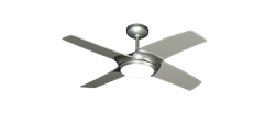 42 inch Starfire in Brushed Aluminum Ceiling Fan by TroposAir