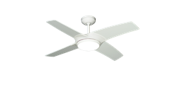 42 inch Starfire in Pure White Ceiling Fan by TroposAir