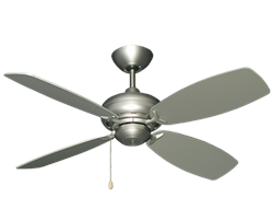 42 Inch Mini Breeze ceiling fan - satin steel finish satin steel blades
