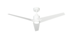 Reveal Ceiling Fan By TroposAir 52 Inch Pure White with Remote Control