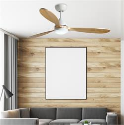 52 inch Koho Pure White Ceiling Fan by TroposAir