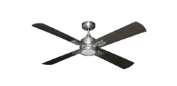 Captiva 52 inch Ceiling Fan in Satin Steel