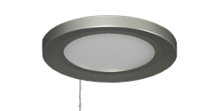 610 Low Profile 18 Watt LED Ceiling Fan Light satin steel