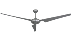TroposAir Ion 76 Inch Ceiling Fan Shown In Brushed Nickel