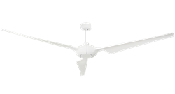 TroposAir Ion 76 Inch Ceiling Fan Shown In Pure White