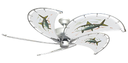2 inch Raindance Nautical Ceiling Fan - Game Fish Bonefish