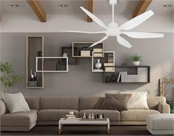52 inch Titan II Pure White Ceiling Fan with Contoured Blades
